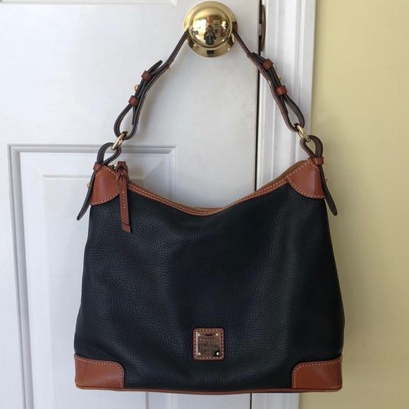411a7d178c1c Dooney   Bourke Handbags - Dooney   Bourke Pebble Grain Hobo in black